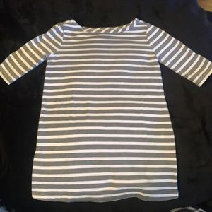 Old Navy NWOT gray white striped tunic dress